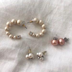 J crew pearl earring bundle!